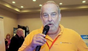 Napco's Bill Sporre Demonstrates Marks USA Lock at Campus Safety Conference