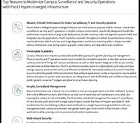 Pivot3 Top Reasons to Modernize Campus Surveillance and Security Operations
